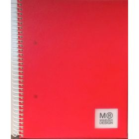 Miquelrius: A5 Horizontal Polypropylene Notebook, Candy Tag (Red)