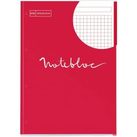 Miquelrius: A4 Notebook Pad- Grid (Red)