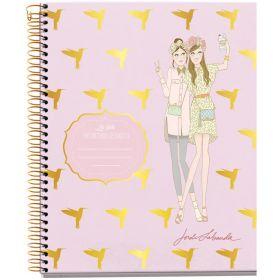 Miquelrius: A4 Spiral Notebook- Grid (Jordi Labanda, Girls Colibris)