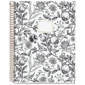 Miquelrius: A4 Spiral Notebook (Pomegranate - Golden Black)