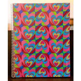 Miquelrius: A4 Spiral Notebook (Agatha Ruiz, Iris Corazones)