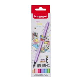 Royal Talens: Bruynzeel Fineliners - Pastel Colours (Pack of 6)
