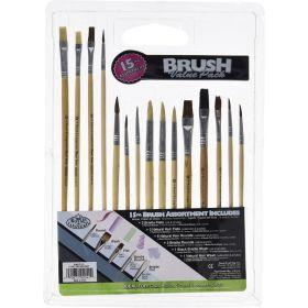 Royal & Langnickel: 15-Piece Beginner Value Pack Paint Brush Set