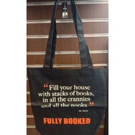 Fully Booked Quote Tote Bag: Dr. Seuss (Black)
