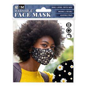 Daisy on Black: ONS Washable Face Mask (Medium)