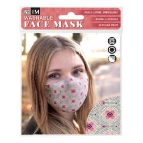 Pink Circle Design: ONS Washable Face Mask (Medium)