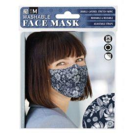 Dark Vintage Floral: ONS Washable Face Mask (Medium)