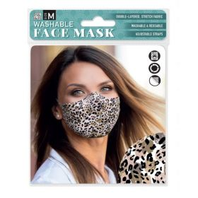 Abstract Leopard: ONS Washable Face Mask (Medium)