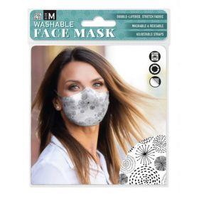 Black Circle Design: ONS Washable Face Mask (Medium)