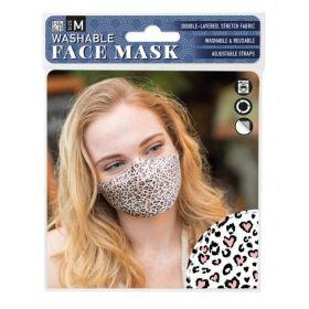 Pink Heart Safari: ONS Washable Face Mask (Medium)