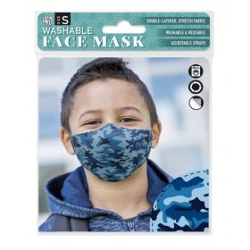Blue Camouflage: ONS Washable Face Mask (Small)