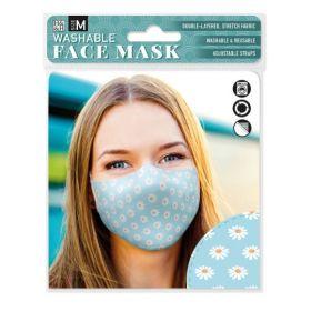Daisy on Blue: ONS Washable Face Mask (Medium)