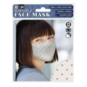Black Cross on Cream: ONS Washable Face Mask (Medium)