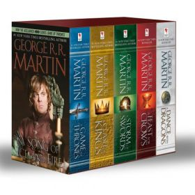 Game of Thrones 5-Copy Boxed Set, Export Edition (Paperback)