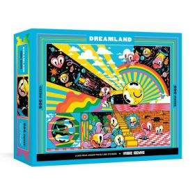 Dreamland A 500-Piece Jigsaw Puzzle & Stickers