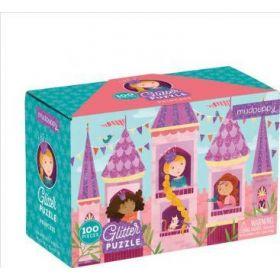 Mudpuppy Glitter Puzzle: Princess-100 Pieces (Puzzle)