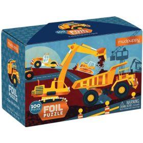 Mudpuppy: Construction 100-Piece Foil Jigsaw Puzzle