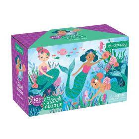 Mudpuppy:  Mermaids Glitter Puzzle
