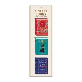 Galison: Magnetic Bookmarks (Vintage Books Shaped)