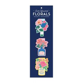Galison: Magnetic Bookmarks (Ever Upward Florals Shaped)