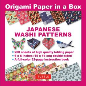 Origami Paper in a Box: Japanese Washi Patterns (Paperback)