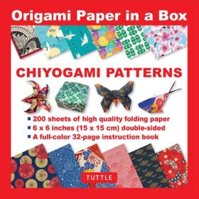 Origami Paper in a Box: Chiyogami Patterns (Paperback)