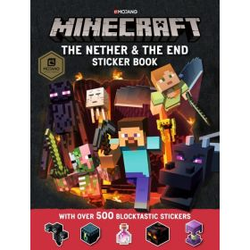 Minecraft: The Nether and the End Sticker Book (Paperback)