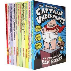 Captain Underpants:10-Book Set (Paperback)