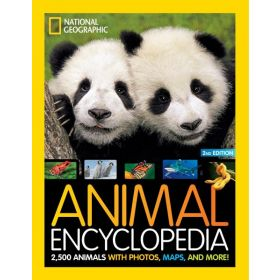 Animal Encyclopedia: 2,500 Animals with Photos, Maps, and More!, 2nd Edition (Hardcover)