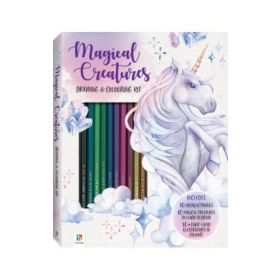 Magical Creatures Colouring and Drawing Kit (Paperback)