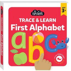 Junior Explorers: Trace & Learn First Alphabet (Board Book)