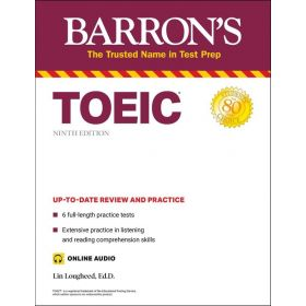 Barrons: TOEIC With Online Audio, 9th Edition (Paperback)