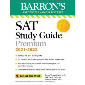 Barron's SAT Study Guide Premium, 2021-2022 (Paperback)