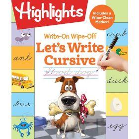 Write-On Wipe-Off Let's Write Cursive (Spiral-Bound)