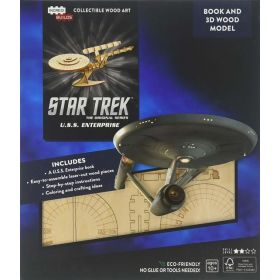 IncrediBuilds: Star Trek, U.S.S. Enterprise Book and 3D Wood Model (Paperback)
