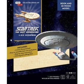 IncrediBuilds: Star Trek The Next Generation: U.S.S. Enterprise Book and 3D Wood Model (Paperback)