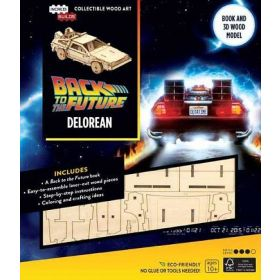IncrediBuilds: Back to the Future, DeLorean Book and 3D Wood Model (Hardcover)