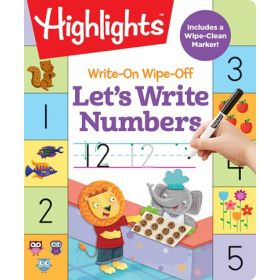 Write-on Wipe-Off: Let's Write Numbers, Highlights (Hardcover)