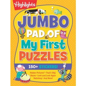 Jumbo Pad of My First Puzzles, Highlights Jumbo Books & Pads (Paperback)