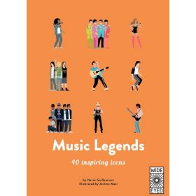 Music Legends: Meet 40 Pop and Rock Stars, 40 Inspiring Icons (Hardcover)