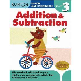 Grade 3 Addition & Subtraction, Kumon Math Workbooks (Paperback)