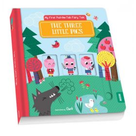 My First Pull-the-Tab Fairy Tale: The Three Little Pigs, French (Board Book)