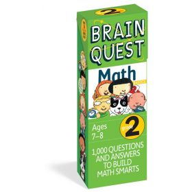 Brain Quest: 1000 Questions and Answers to Challenge the Mind. Curriculum-based! Teacher-approved!, Grade 2 Math (Cards)