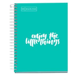Miquelrius: Messages A5 Squared Notebook (Turquoise)