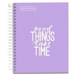 Miquelrius: Messages A5 Squared Notebook (Lavender)