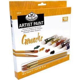 Royal & Langnickel: Artist Paint 18-Color Gouache Set (12 ml)