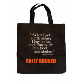 Fully Booked Quote Tote Bag: Desiderius Erasmus (Black)