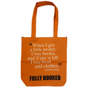 Fully Booked Quote Bag: Erasmus, Small (Orange)