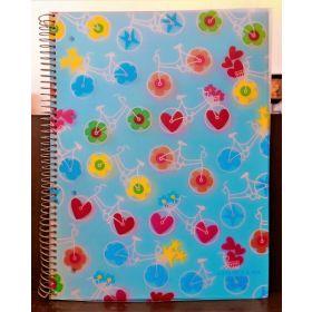 Miquelrius: A4 Spiral Notebook (Agatha Ruiz, Bicycles)
