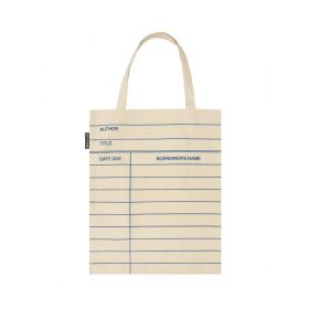 Out of Print: Library Card, Natural Tote Bag
